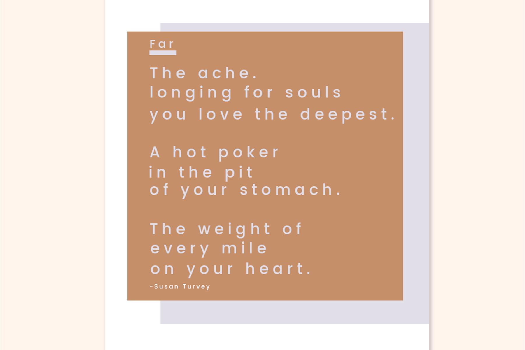 Susan Turvey Poem Far